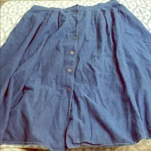 Dresses & Skirts - Plus size denim skirt with buttons modest